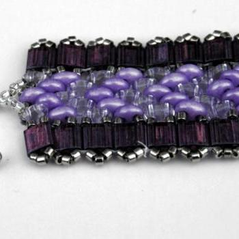 Beaded Narrow Cuff - Handmade Fashion Beaded Bracelet